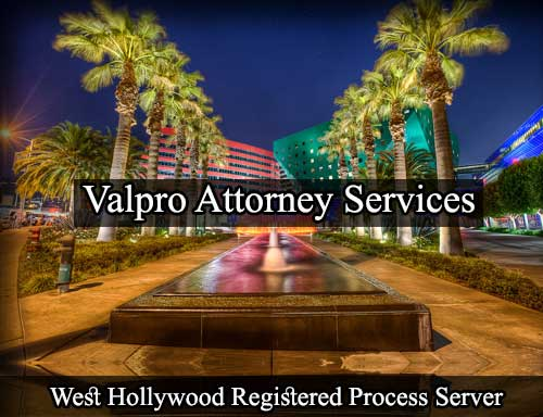 West Hollywood California Registered Process Server