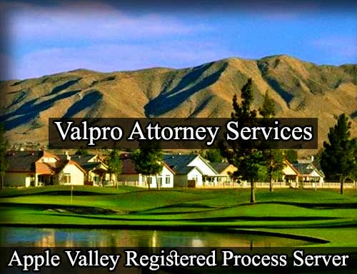 Apple Valley California Registered Process Server