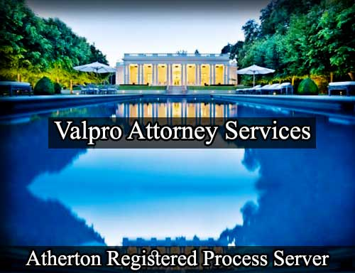 Atherton California Registered Process Server