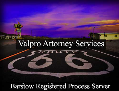 Barstow Registered Process Server