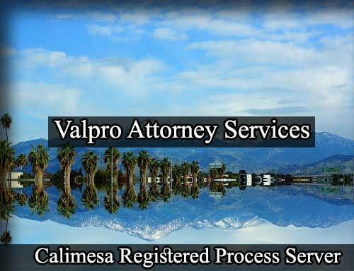 Calimesa Registered Process Server