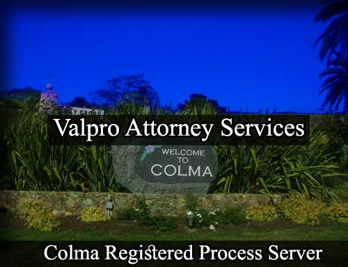 Colma Registered Process Server