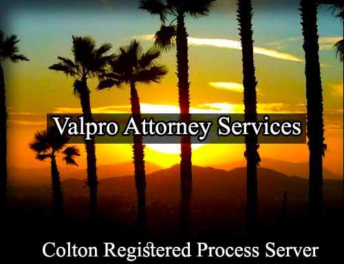 Colton California Registered Process Server