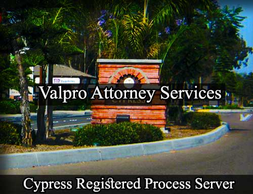 Cypress Registered Process Server