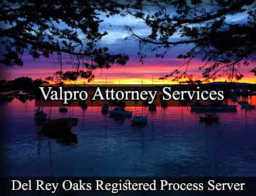 Del Rey Oaks Registered Process Server