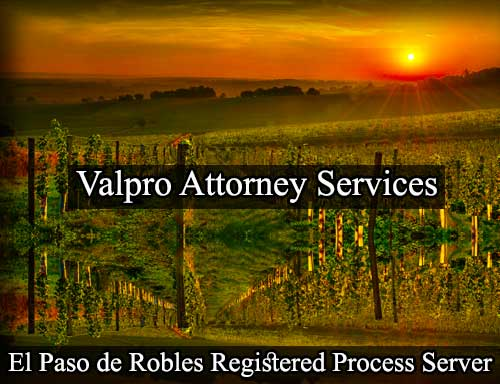 El Paso De Robles Registered Process Server
