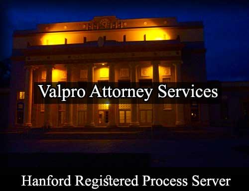 Hanford Registered Process Server