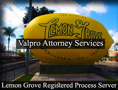Lemon Grove Registered Process Server