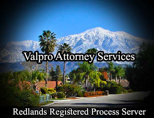 Redlands Registered Process Server