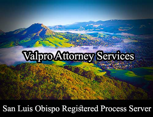 San Luis Obispo Registered Process Server