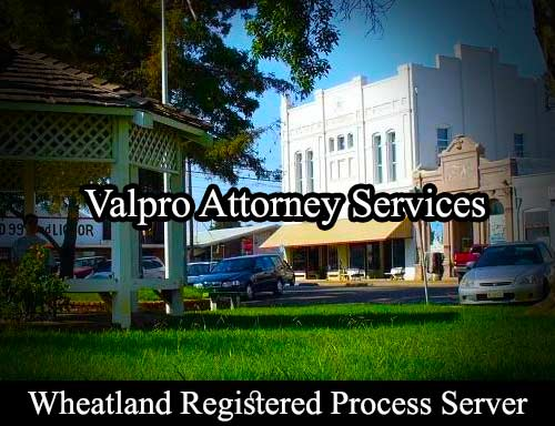 Wheatland Registered Process Server