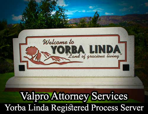 Yorba Linda Registered Process Server