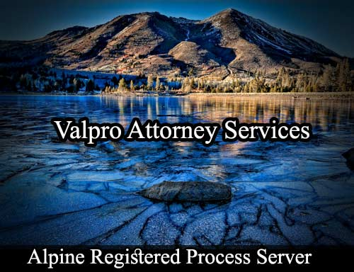 Alpine California Registered Process Server