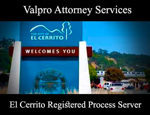 El Cerrito Registered Process Server
