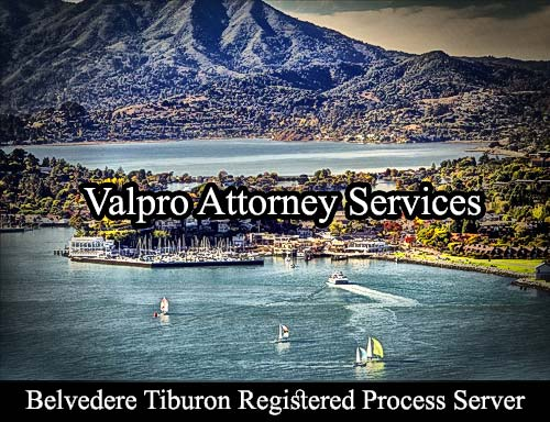 Belvedere Tiburon Registered Process Server