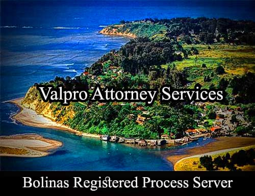 Bolinas California Registered Process Server