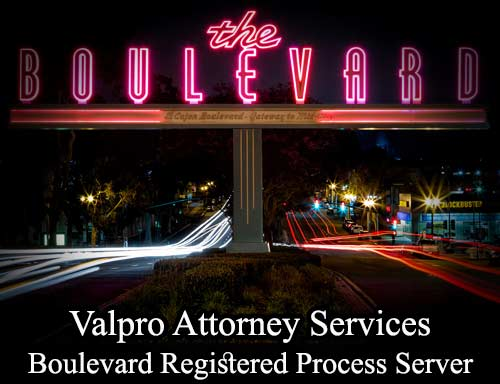 Boulevard California Registered Process Server