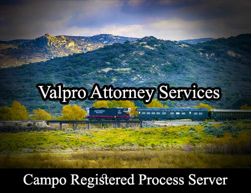 Campo California Registered Process Server