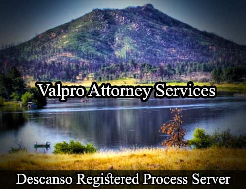 Descanso California Registered Process Server