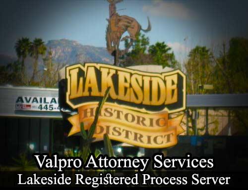 Lakeside California Registered Process Server