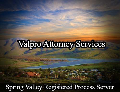 Spring Valley California Registered Process Server