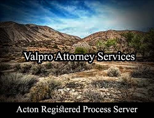 Acton California Registered Process Server