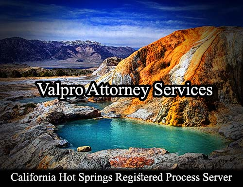 California Hot Springs Registered Process Server