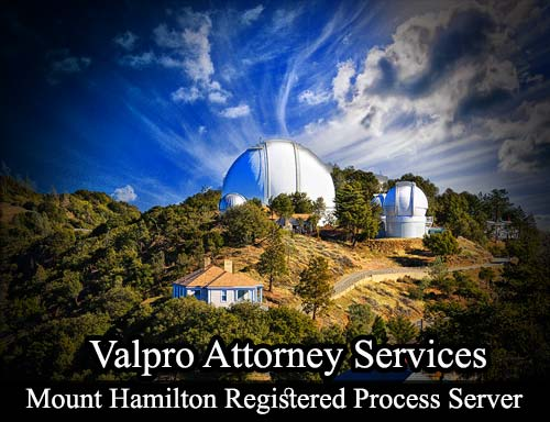 Mount Hamilton California Registered Process Server