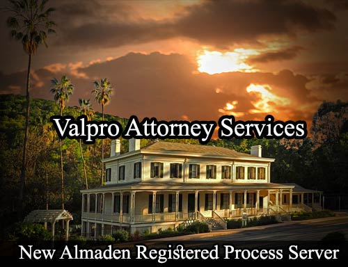 New Almaden California Registered Process Server