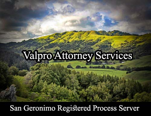 San Geronimo California Registered Process Server