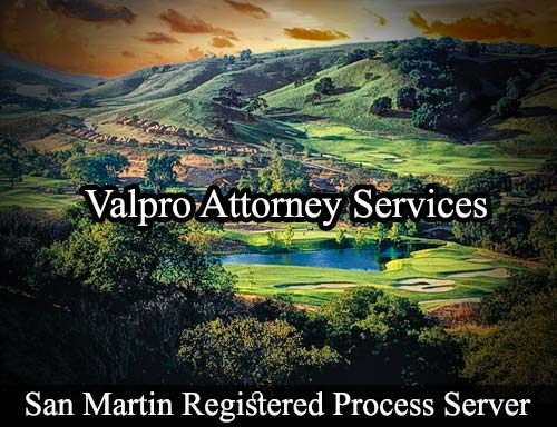 San Martin California Registered Process Server