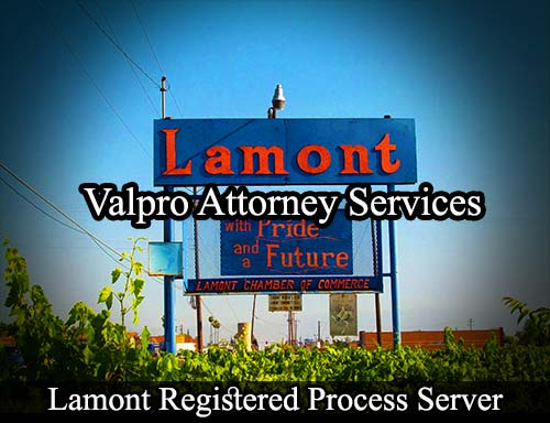 Lamont California Registered Process Server