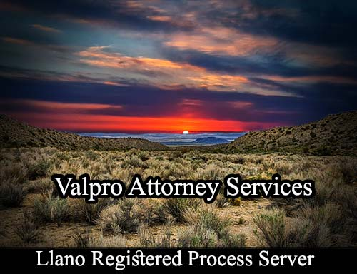 Llano California Registered Process Server