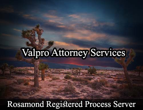 Rosamond California Registered Process Server
