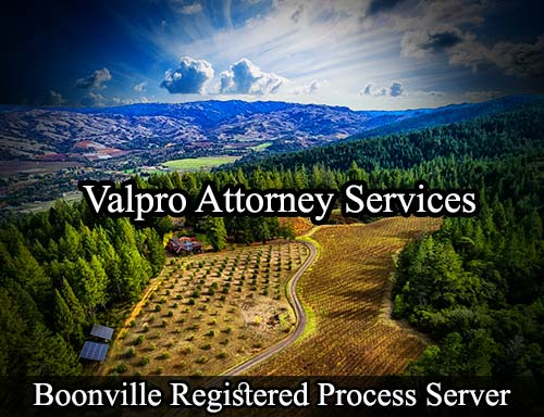Boonville California Registered Process Server