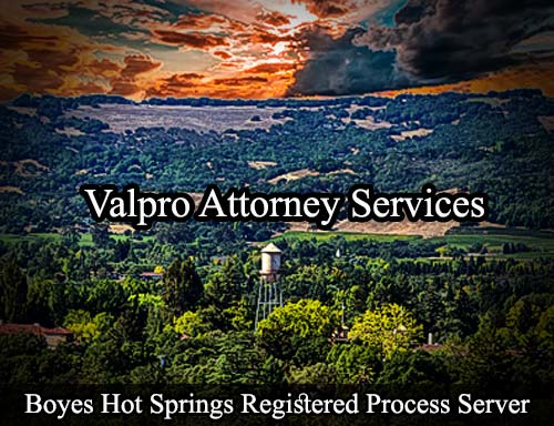 Boyes Hot Springs California Registered Process Server