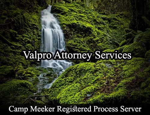 Camp Meeker California Registered Process Server