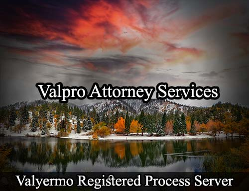 Valyermo California Registered Process Server