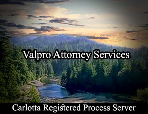 Carlotta California Registered Process Server