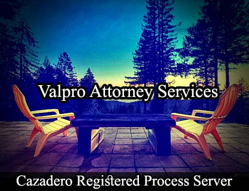Cazadero California Registered Process Server