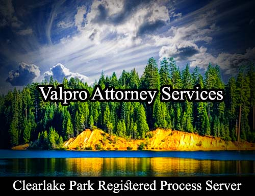 Clearlake Park California Registered Process Server