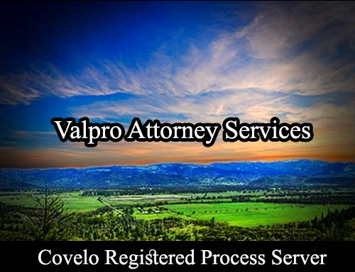 Covelo California Registered Process Server