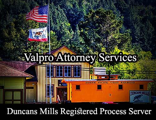 Duncans Mills California Registered Process Server
