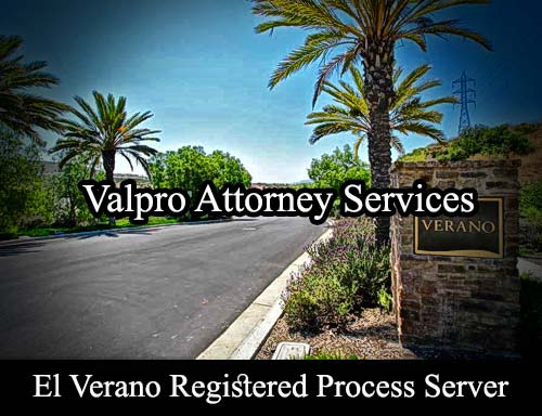El Verano California Registered Process Server