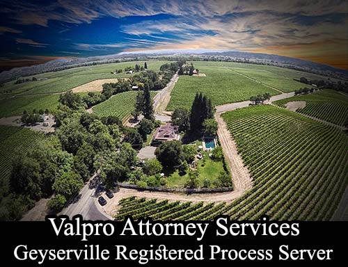 Geyserville California Registered Process Server