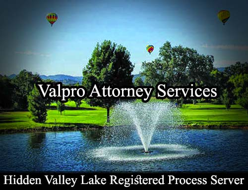 Hidden Valley Lake California Registered Process Server