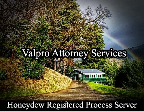 Honeydew California Registered Process Server