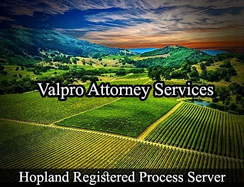 Hopland California Registered Process Server