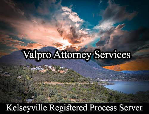 Kelseyville California Registered Process Server