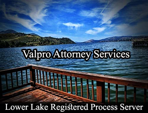 Lower Lake California Registered Process Server